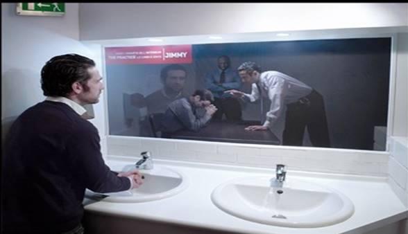 Two Way Mirror. Inventor Of The Uncheckable Bathroom U201clocku201d